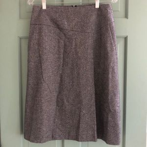 Talbots Tweed Faux Wrap Wool Blend Career Skirt